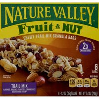 Nature Valley Granola Bars, Chewy, Fruit & Nut, Trail Mix