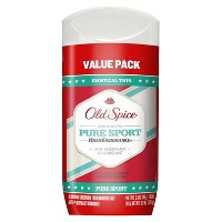 Old Spice High Endurance Pure Sport Invisible Solid Antiperspirant and Deodorant Twin Pack - 6oz