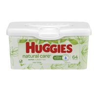 Huggies Natural Care Sensitive Baby Wipes, Unscented, 1 Nursery Tub (64 Wipes Total)
