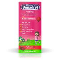 Children's Benadryl Antihistamine Allergy Liquid, Cherry, 8 fl oz