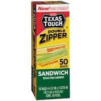 H-E-B Tough & Strong Double Zipper Sandwich Bags