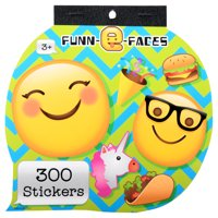 Stickerfitti Fun E Face 300ct Stkr Bk