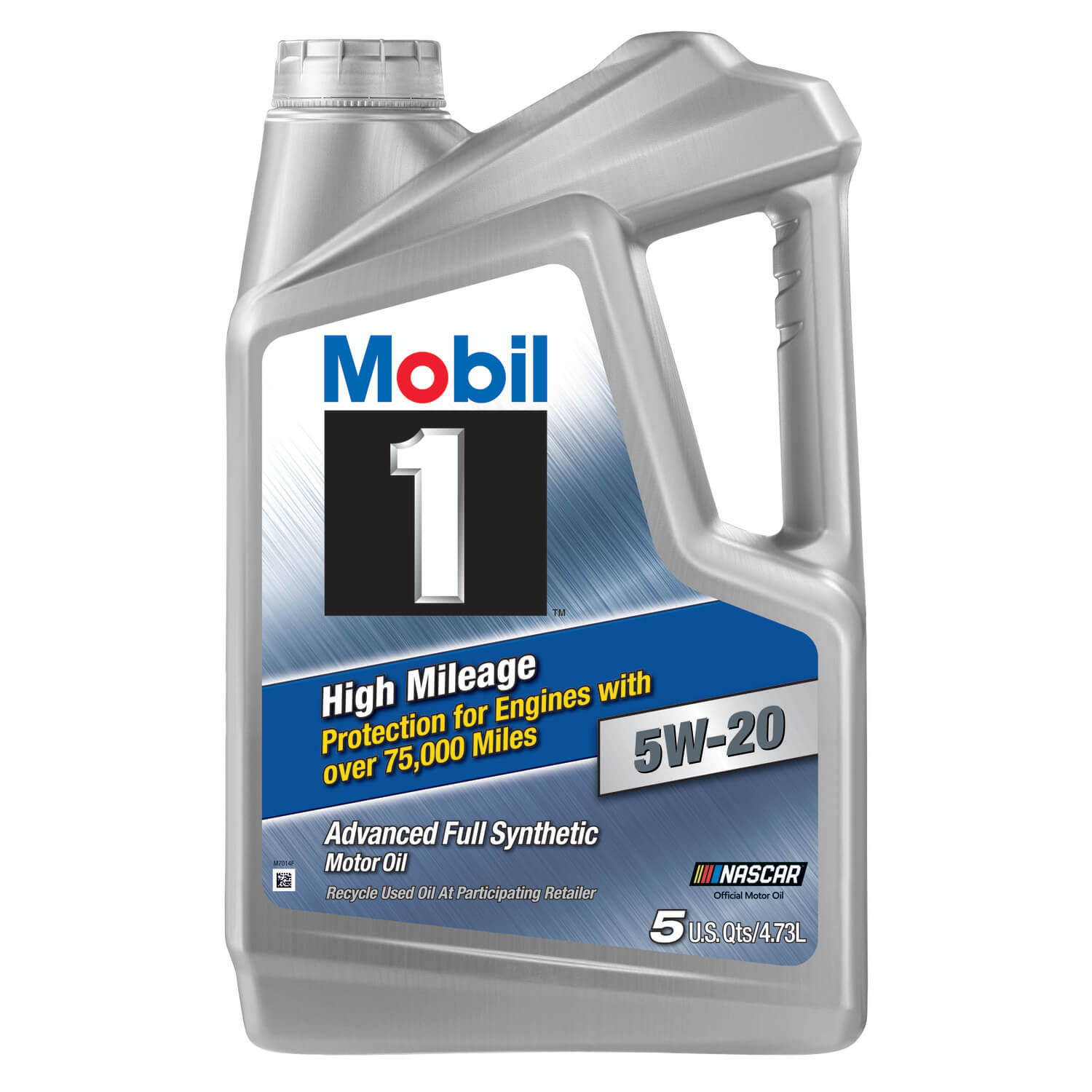 Mobil 1 High Mileage Full Synthetic Motor Oil 5W-20, 5 Quart