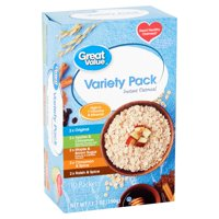 Great Value Instant Oatmeal Variety Pack, 10 count, 13.7 oz
