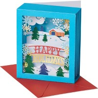 Happy Holidays Pop-Up Christmas Greeting Card
