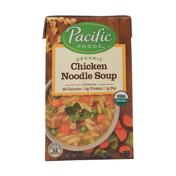 Pacific natural foods Organic Chicken Noodle Soup, 17.6 oz
