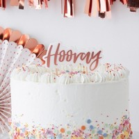 'Hooray' Party Candle Rose Gold