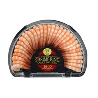 Frozen Cooked Extra Large Peeled, Deveined, Shrimp Ring with Sauce, 20 oz