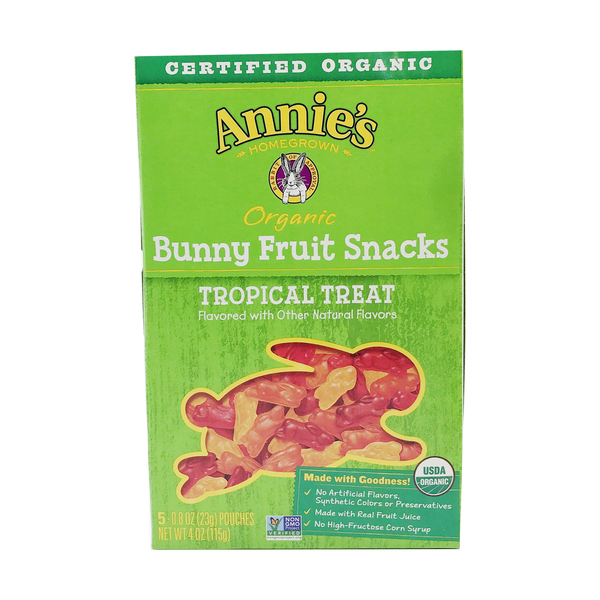 Annie's homegrown Tropical Treat Organic Fruit Snacks, 4 oz
