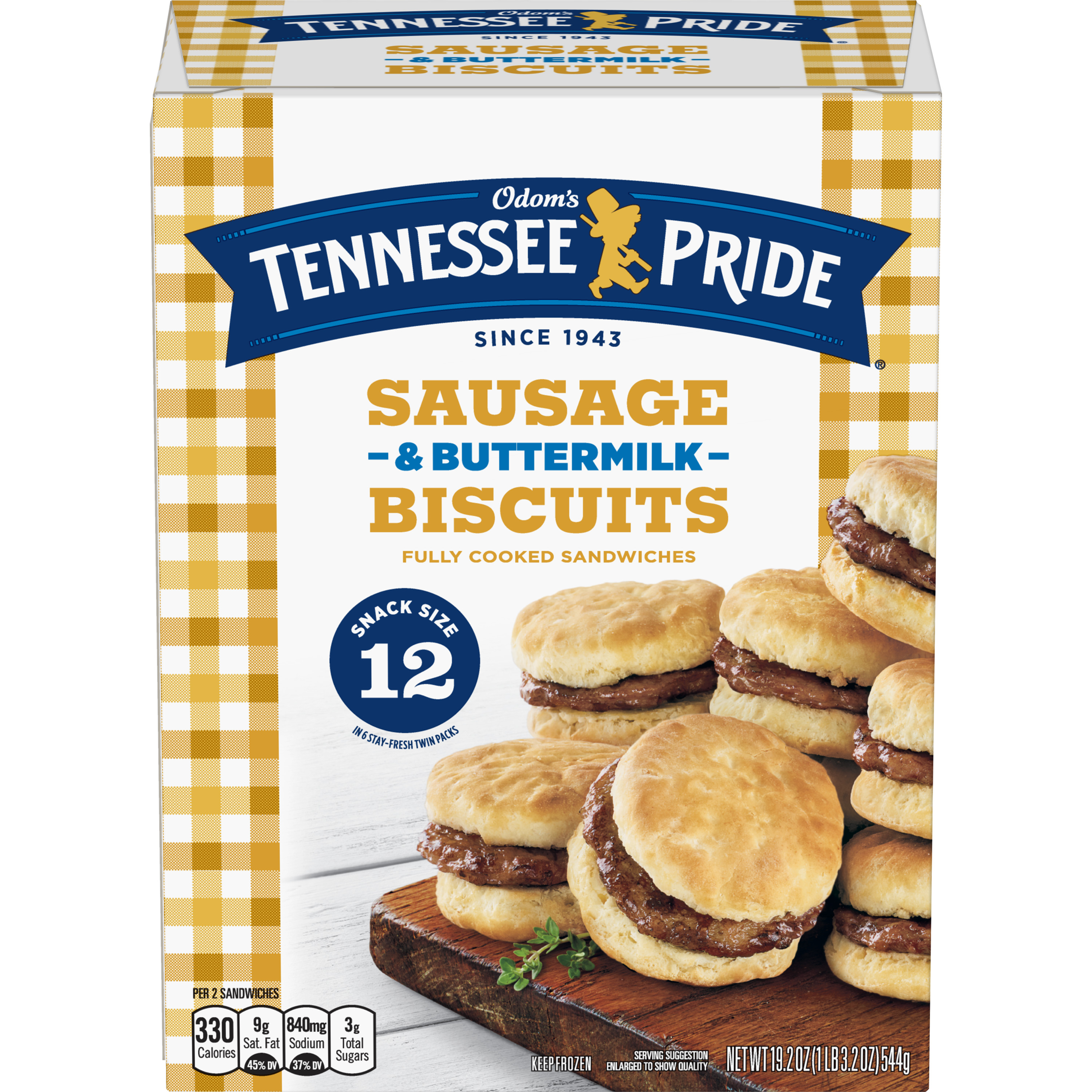 Odom's Tennessee Pride Sausage & Buttermilk Biscuits, 12 Count