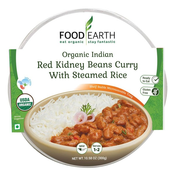 Food Earth Red Kidney Bean Curry With Steamed Rice