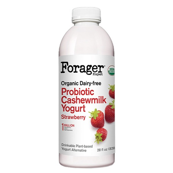 Forager Project Strawberry Dairy-Free Probiotic Drinkable Cashewgurt