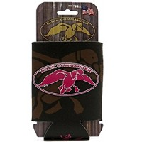 Fierce Products Duck Dynasty Logo Can Cooler Cooler Brown With Pink Logo