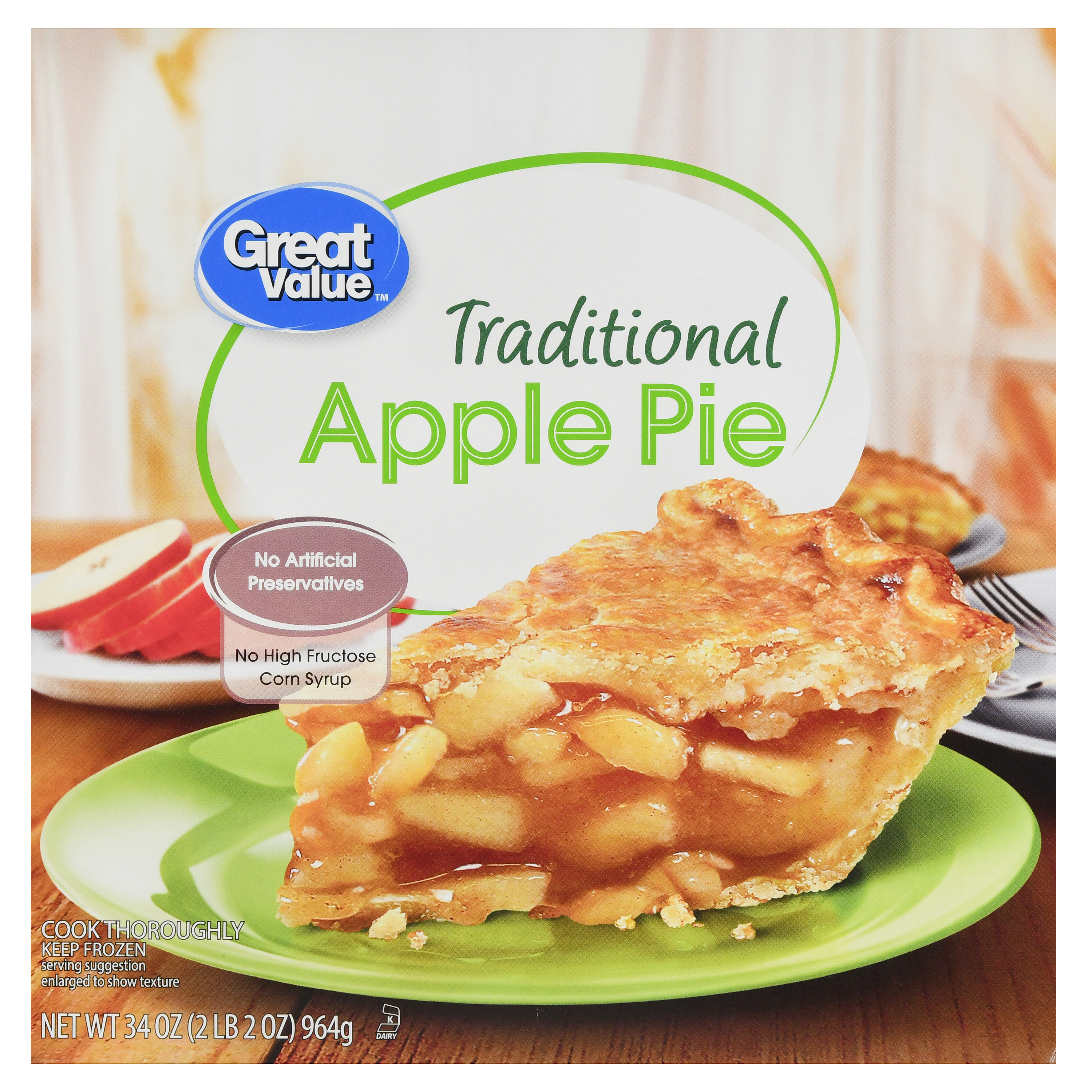 Great Value Traditional Apple Pie, 20 oz From Walmart in Austin ...