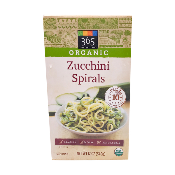 365 everyday value® Organic Zucchini Spirals, 12 oz