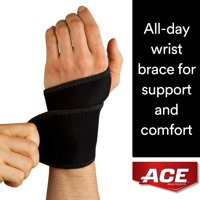 ACE Brand Stabilizing Wrist Support, Breathable, Adjustable, All-day Wear, Black, 1/Pack