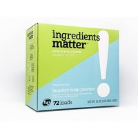 Ingredients Matter Fragrance Free Laundry Soap Powder - 36oz