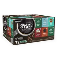 Keurig Crafted Classic K-Cup Coffee Collection, 72 ct