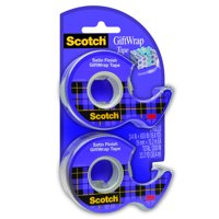 Scotch Gift Wrap Tape, 3/4 in. x 600 in., 2 Dispensers/Pack