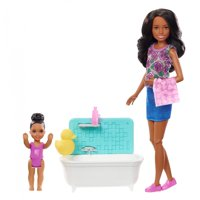 Barbie Skipper Babysitters Inc. Bath Time Playset with Toddler Doll