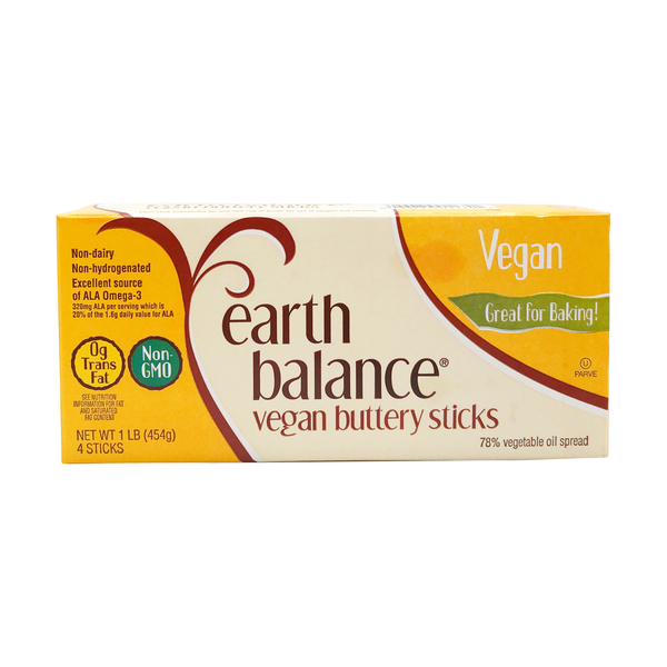 Earth balance Vegan Buttery Sticks, 1 lb