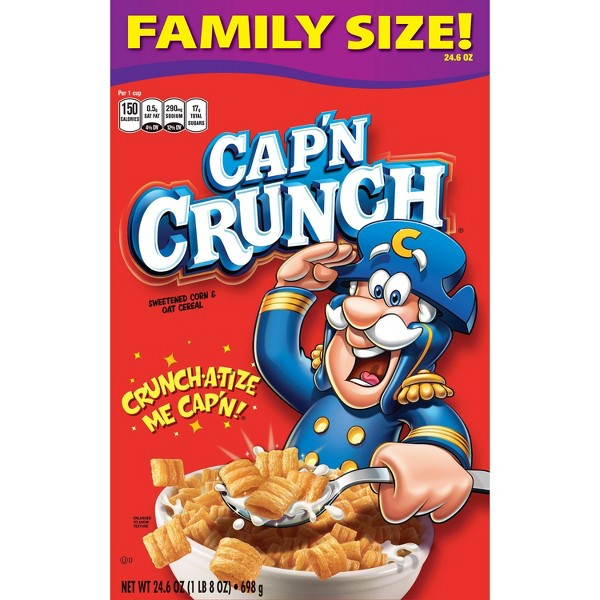 Cap'n Crunch Original Breakfast Cereal - 22.8 oz