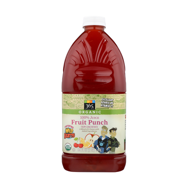 365 everyday value® Wild Kratts Juice, Fin-tastic Fruit Punch, 64 Fl. Oz.