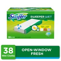 Swiffer Sweeper Wet Mopping Pad Refills, Open Window Fresh, 38 count