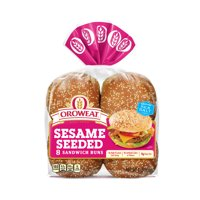 Oroweat Sesame Seeded Sandwich Rolls, BBQ Size, 8 Buns, 16 oz