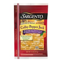 Sargento®Sliced Colby Pepper Jack Cheese, 11 slices