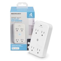 Merkury Innovations Smart Outlet Extender + Surge Protector, Requires 2.4 GHz Wi-Fi