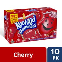 Kool-Aid Jammers Cherry Flavored Drink, 10 ct - Pouches, 60.0 fl oz Box