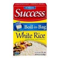 Success Boil-In Bag White Rice, 21-Ounce Box