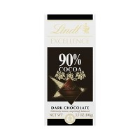 Lindt Excellence Supreme Dark 90% Cocoa Chocolate - 3.5oz