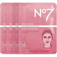 No7 Restore & Renew Multi Action Serum Boost Face Mask Sheet Value Pack