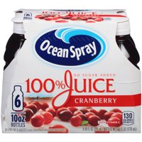 Ocean Spray 100% Cranberry Juice, 10 Fl. Oz., 6 Count