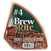 Brew Rite #4 Cone Coffee Filters, 100 Count (2 Pack)