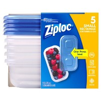 Ziploc Small Rectangle Containers - 5ct