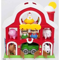 Kid Connection Farm House Play Set with Animals, 19 Pieces