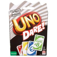 UNO Dare Wild Choices Card Game for 2-10 Players Ages 7Y+