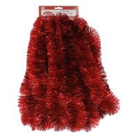Holiday Time Tinsel Garland, Red, 15'