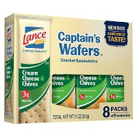 Lance Captain's Wafers Cream Cheese & Chives Cracker Sandwiches - 11oz / 8ct