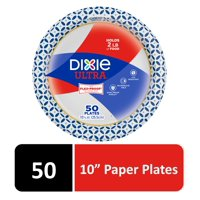 """Dixie Ultra Paper Dinner Plates, 10"""", 50 Count"""