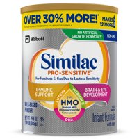 Similac Pro-Sensitive Infant Formula with Iron, with 2'-FL HMO, For Immune Support, Baby Formula, Powder, 29.8 ounces