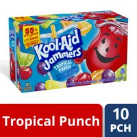 Kool-Aid Jammers Tropical Punch Flavored Drink, 10 ct - Pouches, 60.0 fl oz Box