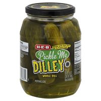H-E-B Pickle Me Dilley Whole Dill Pickles