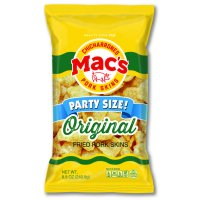 Mac's Original Pork Skins Party Size!, 8.5 Oz.