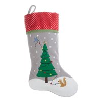 Holiday Time Christmas Decor Squirrel & Tree Stocking, 19