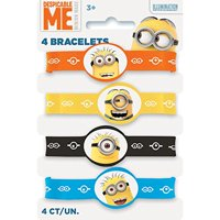 Despicable Me Minions Rubber Bracelet Party Favors, Assorted, 4ct