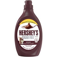 Hershey Syrup, Sugar Free, Genuine Chocolate Flavor